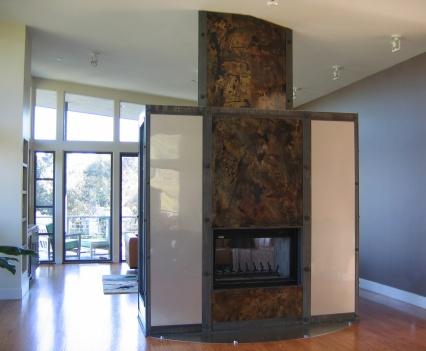 Rodomski fireplace Brentwood Ca.